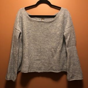 Free People Powder Blue Knit Sweater